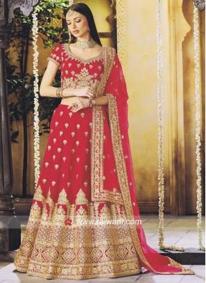 Red Bridal Heavy Lehenga Choli