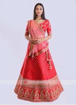 Red Bridal Wear Lehenga Choli