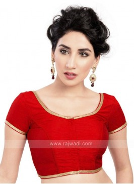 Red Brocade Ready Blouse