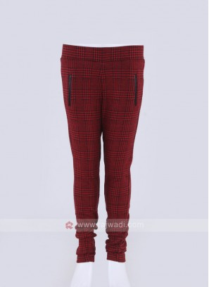 red checks jeggings