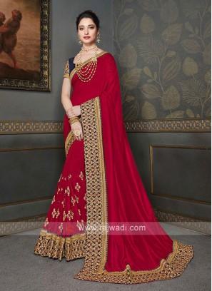 Red Color Art Silk Saree