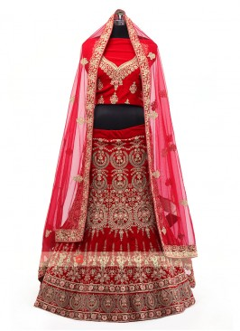 Red Color Bridal Lehenga Choli