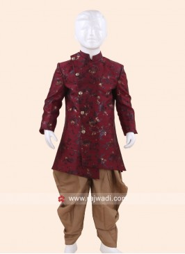 Maroon Color Indo Western for Boys