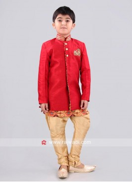 Red Color Indo Western for Boys