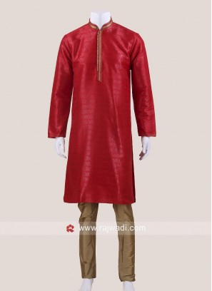 Red Color Kurta Pajama