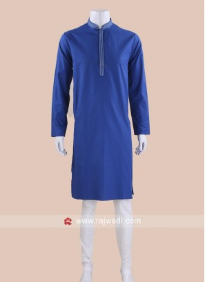 Royal Blue Color Kurta Pajama For Wedding