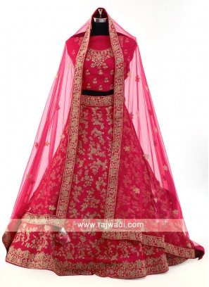 Red Color Silk Lehenga Choli