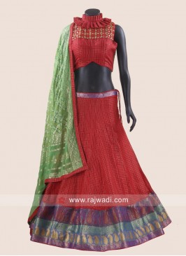 Red Cotton silk Designer Chaniya Choli