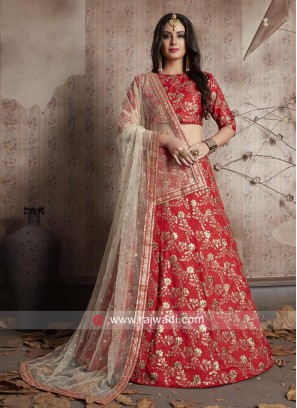 Red Designer Bride Lehenga Choli