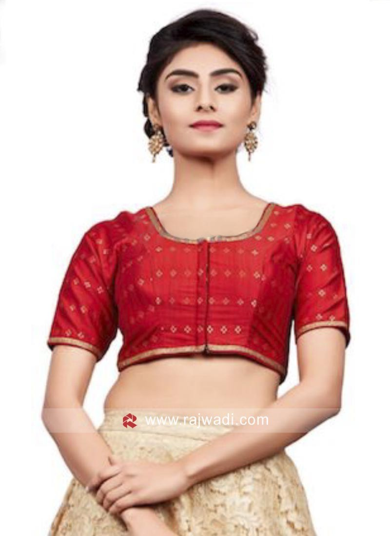 Red Designer Wedding Blouse