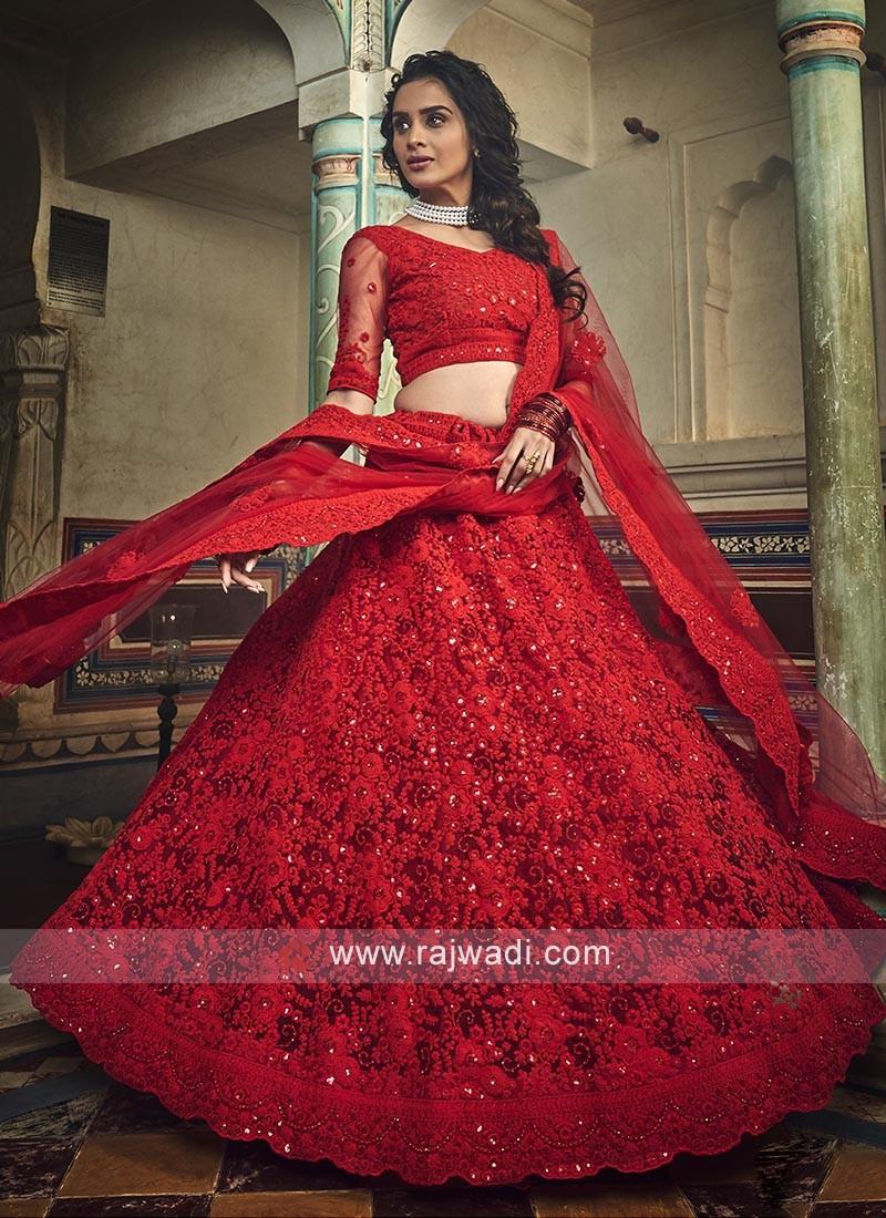 Red Lehenga Choli For Wedding