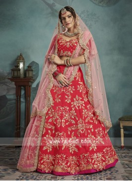 Red Lehenga Set with Dupatta