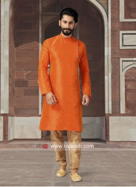 Dark Orange Kurta Pajama