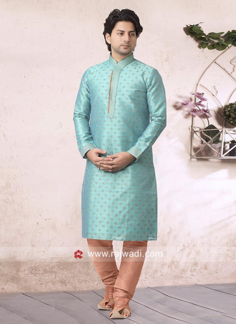 Light Blue Party Wear Kurta Pajama