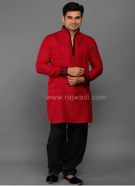 Red Party Wear Kurta Pajama