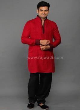 Red Party Wear Kurta Pajama