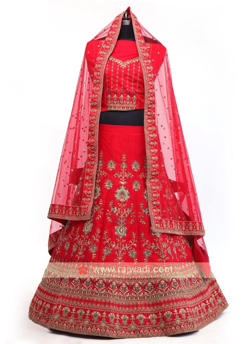 Red Silk Lehenga Choli