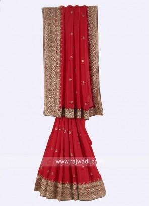 Red Silk Wedding Saree