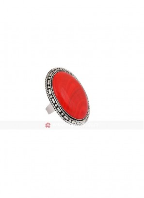 Red Stone Cocktail Ring