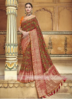 Red Traditional Saree