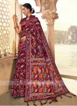 Classic Maroon Weaving Saree