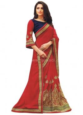 Red Wedding Saree