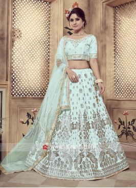 Refreshing Turquoise coloured Lehenga Choli