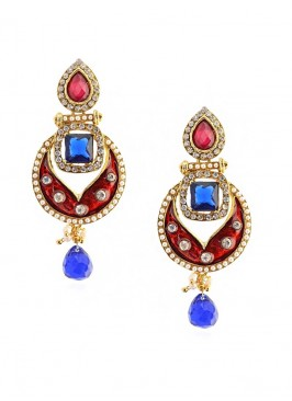 Regal Ultramarine Enamel Earring