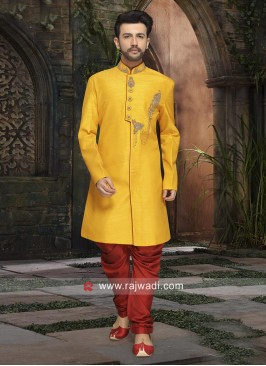 Stylish Yellow Color Indo Western