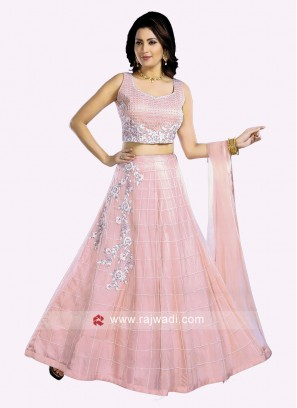 Resham and Diamond Work Choli Suit