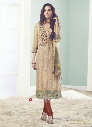 Resham and Diamond Work Salwar Suit