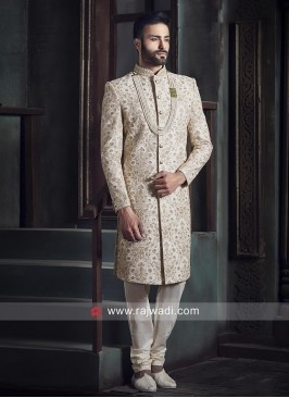 Resham and Sequins Work indo Western Sherwani