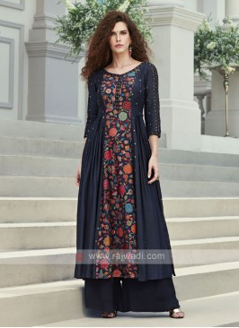 Resham and Sequins Work Palazzo Suit