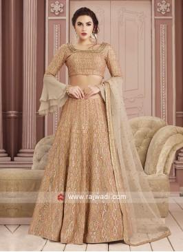 Resham and Stone Work Choli Suit
