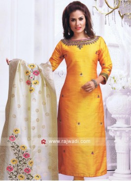 Resham and Stone Work Churidar Suit