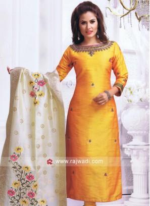 Resham and Stone Work Churidar Suit