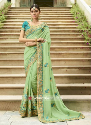 Resham and Stone Work Saree
