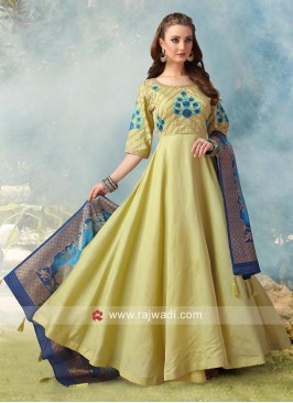 Resham and Stone Work Wedding Anarkali Suit