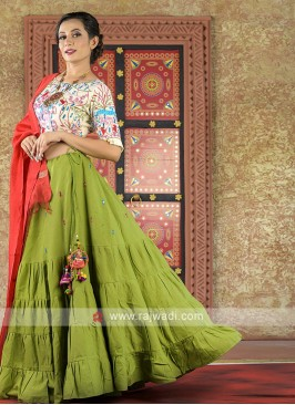 Resham and thread work chaniya choli