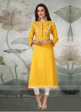 Resham and Thread Work Kurti