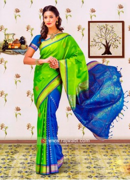 Resham and Zari Weaved Sari