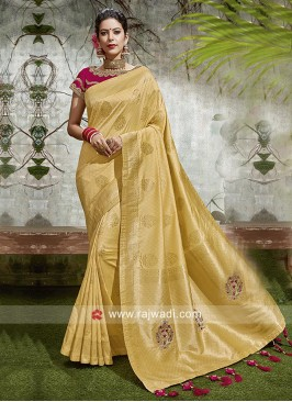Resham and Zari Work Banarasi Silk Saree