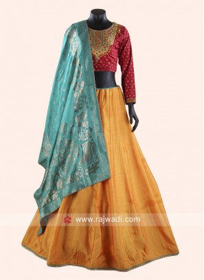 Resham and Zari Work Choli Suit