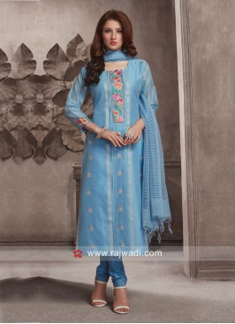 Dressline Resham and Zari Work Churidar Suit