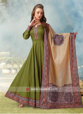 Resham and Zari Work Designer Anarkali Suit