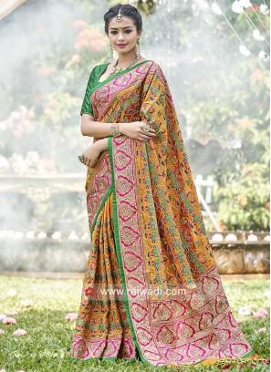 Resham and Zari Work Designer Saree