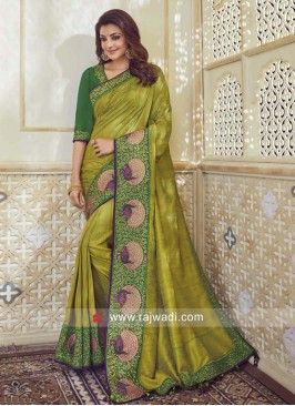 Resham and Zari Work Kajal Aggarwal Saree