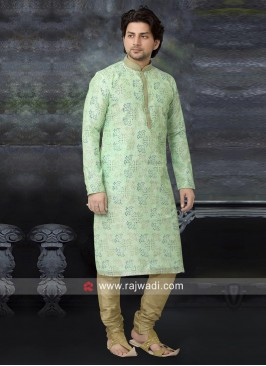 Charming Pista Green Kurta Set