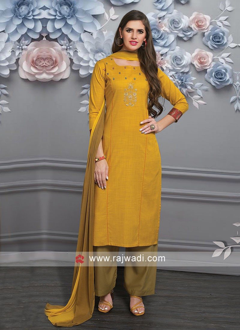 Resham and Zari Work Palazzo Suit