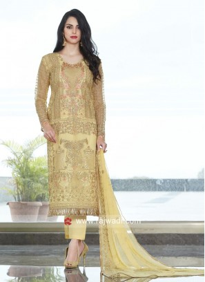 Resham and Zari Work Salwar Kameez